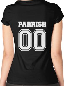 Parrish 00 - White  Women's Fitted Scoop T-Shirt