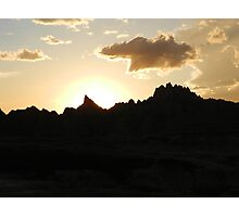 Sunset in the Badlands Photographic Print