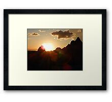 """Nothing """"Bad"""" About This Sunset! Framed Print"""