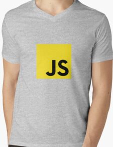 JavaScript logo Mens V-Neck T-Shirt