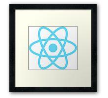 React logo Framed Print