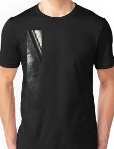 Pitch Black. Vintage Italian Leather Unisex T-Shirt