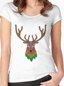 Autumn Deer Women's Fitted Scoop T-Shirt