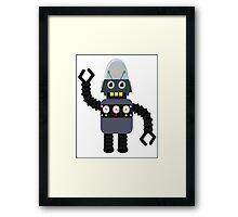 Funny robot Framed Print