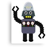 Funny robot Canvas Print