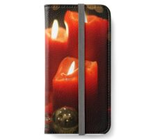 Candlelight at Christmastime iPhone Wallet/Case/Skin