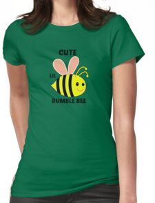 Cute Lil Bumble Bee Womens Fitted T-Shirt
