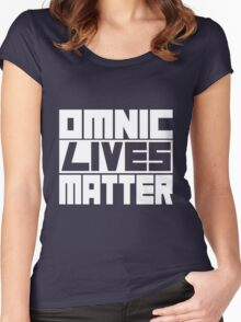 Omnic Lives Matter White Women's Fitted Scoop T-Shirt