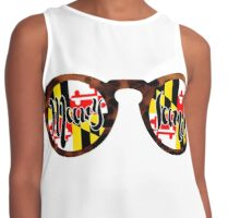 Maryland Flag Shades  Contrast Tank