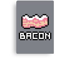 8-Bit Bacon Canvas Print