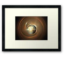 Sienna Wormhole Framed Print