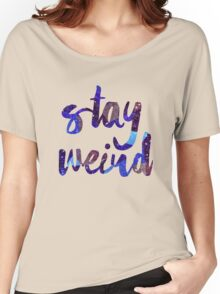 Stay Weird Colorful Typography Art Women's Relaxed Fit T-Shirt