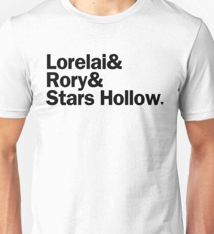 Gilmore Girls - Lorelai & Rory & Stars Hollow | White Unisex T-Shirt