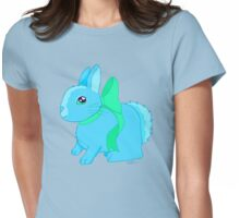 Bunny Wearing a Bow (Blue and Green Version) Womens Fitted T-Shirt