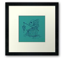 Fishing for hope with a lonely rope Framed Print