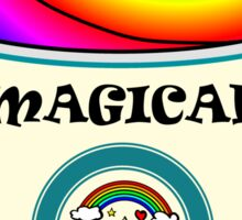 Magical Unicorn Latte for a Hipster and Starbucks Frappucino Lover Sticker