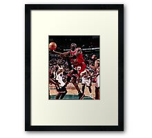 1996 retro basketball Framed Print