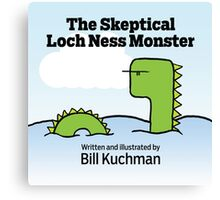 The Skeptical Loch Ness Monster Cover Canvas Print