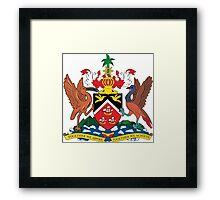 The Coat of Arms of Trinidad and Tobago  If you like, please purchase an item, thanks Framed Print
