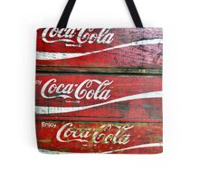 Red Wooden Crates Tote Bag