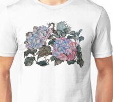 Flowers and Dragon Unisex T-Shirt