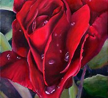 After the Rain - the Rose by Andrea Vreken