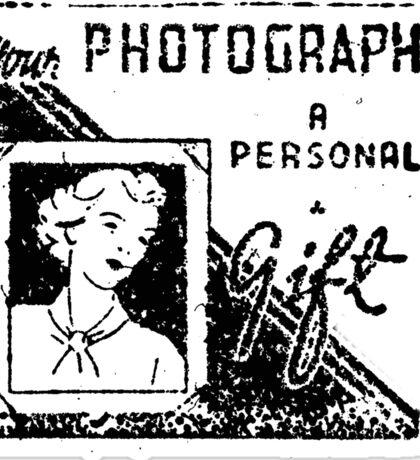 photograph a gift Sticker