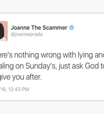 Sunday Scamming Sticker