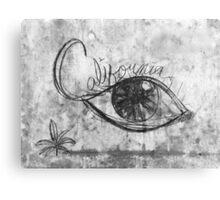 California Graffiti Eye Canvas Print