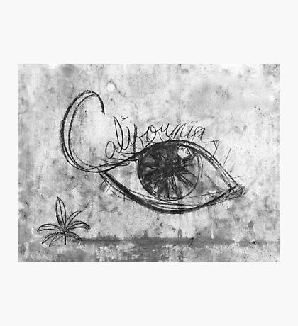 California Graffiti Eye Photographic Print