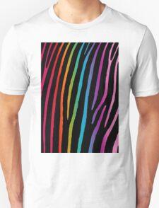 Bright Rainbow Zebra Unisex T-Shirt
