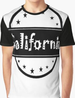 """Ca-li-FOR-N-I-A!!!"" Graphic T-Shirt"