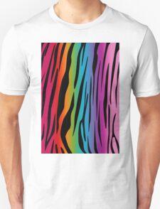 Bright Rainbow Tiger Unisex T-Shirt