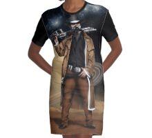 Space Cowboy Graphic T-Shirt Dress