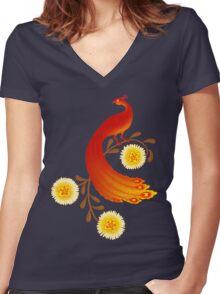 Folklore Firebird Women's Fitted V-Neck T-Shirt
