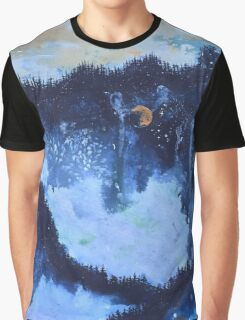 Universe Inside a Foggy Forest Graphic T-Shirt
