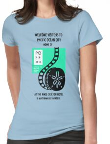 Pacific Ocean Film Festival  Womens Fitted T-Shirt