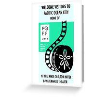 Pacific Ocean Film Festival  Greeting Card