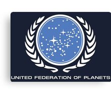 Star Trek - United Federetion of planets Canvas Print