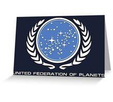 Star Trek - United Federetion of planets Greeting Card
