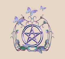 Pentacle Butterflies Womens Fitted T-Shirt