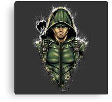 Green Hooded Hero Canvas Print