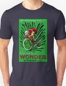 BICYCLE WONDER: Vintage Racing Advertising Print Unisex T-Shirt