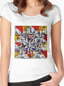 Daisy Abstract after Mondrian Women's Fitted Scoop T-Shirt