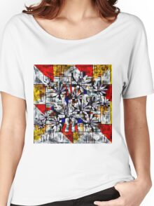 Daisy Abstract after Mondrian Women's Relaxed Fit T-Shirt