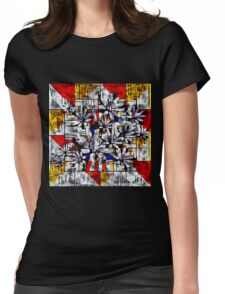 Daisy Abstract after Mondrian Womens Fitted T-Shirt