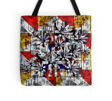 Daisy Abstract after Mondrian Tote Bag