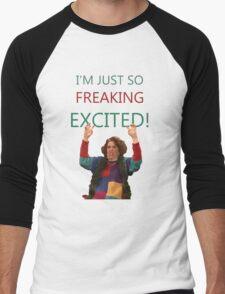 Kristen Wiig: I'm just so freaking excited!  Men's Baseball ¾ T-Shirt