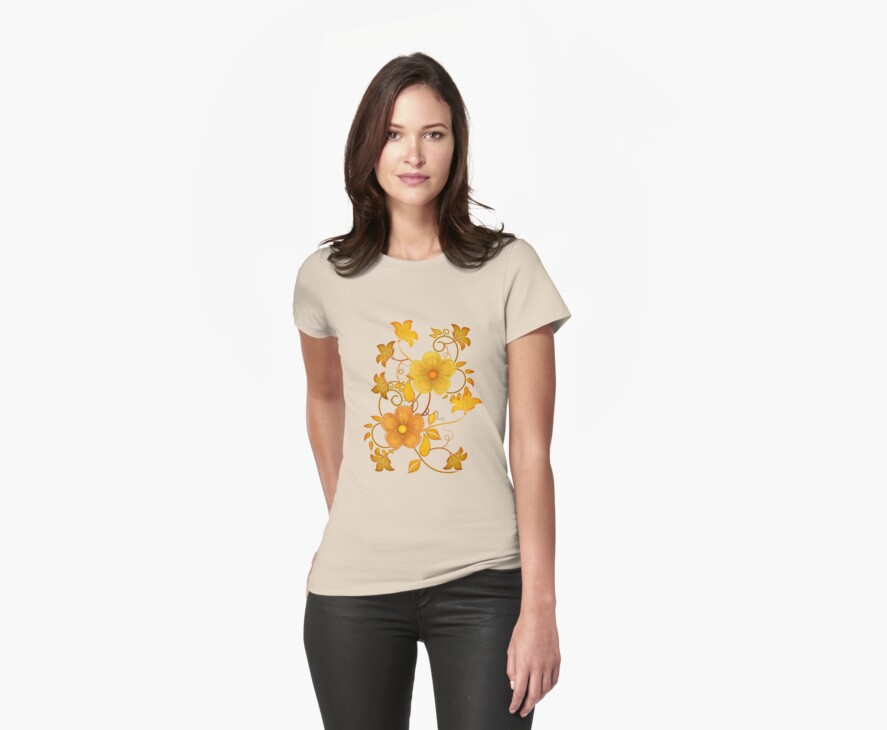 Shades of yellow .. flower design by LoneAngel