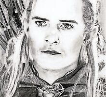 orlando bloom (legolas)... pencil by danijelg
